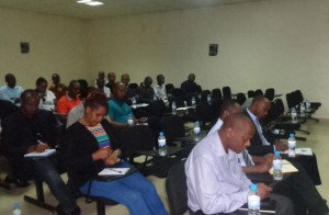 A cross-section of manufacturers and importers of spirits who attended the consultative meeting last week. Most of them say they are not ready to switch to glass bottle packaging and want to be given a two-year extension. (Jean Nepo Ndikumana)
